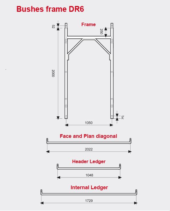Bushes frame scaffolding DR6