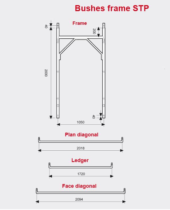 Bushes frame scaffolding STP