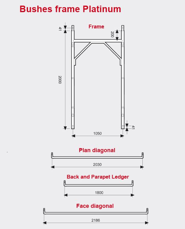Bushes frame scaffolding Platinum