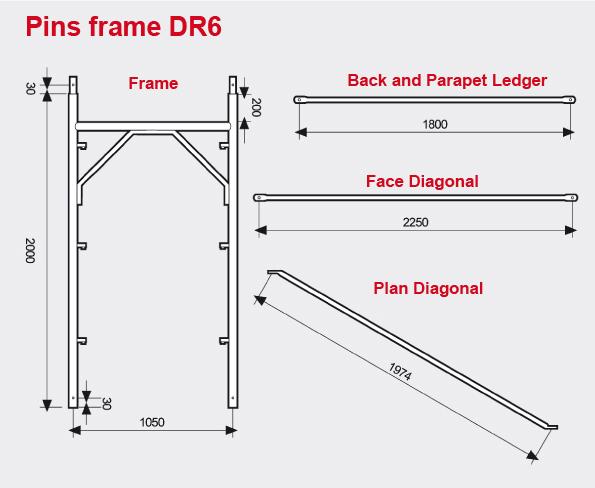 Pins frame DR6