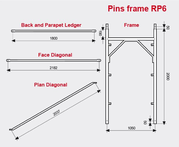 Pins frame scaffolding RP6
