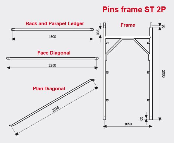 Pins frame ST 2P