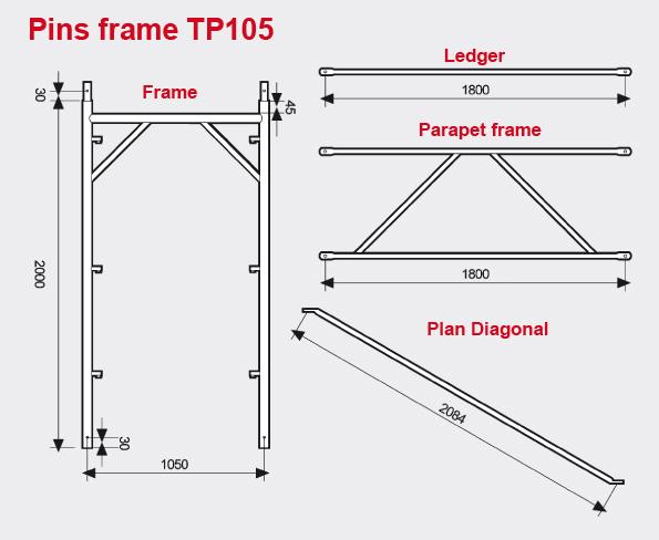Pins frame TP105